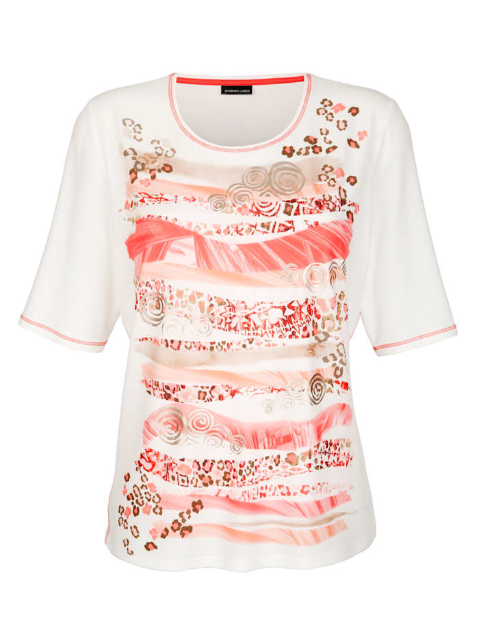 Shirt mit platziertem Motiv