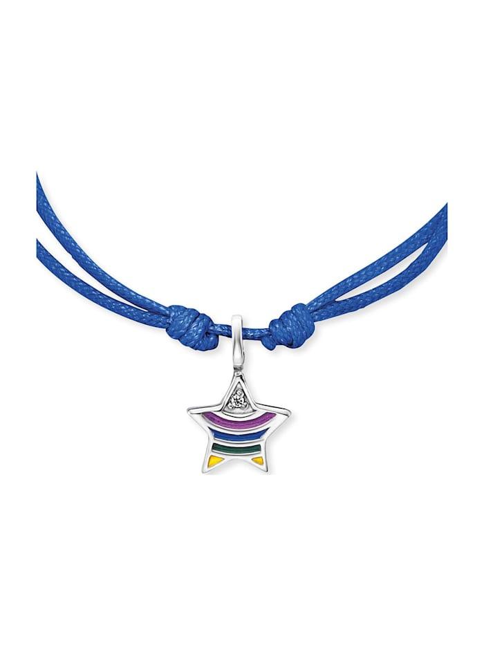 Engelsrufer Mädchen-Armband 925er Perlon/Nylon Farbstein