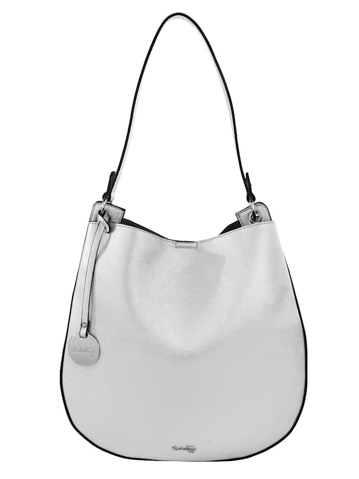 Taschenherz Shopper 2-delig met afneembare hanger met hartje 2-delig, Zilverkleur