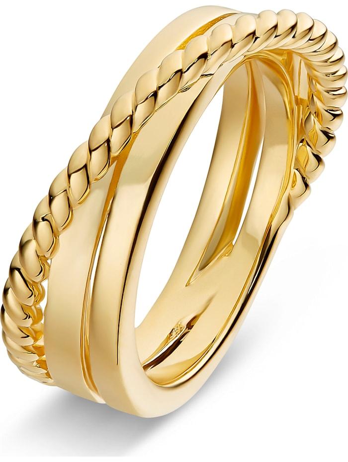 Jette JETTE Damen-Damenring 925er Silber, gelbgold