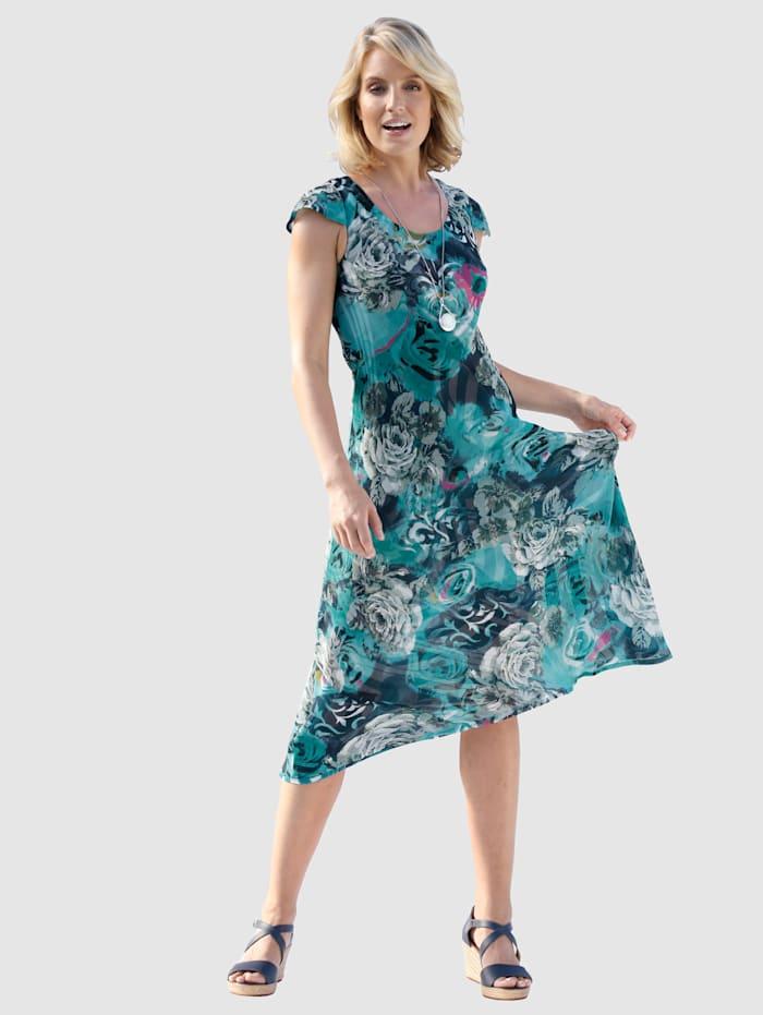Keerbare jurk met kapmouwtjes
