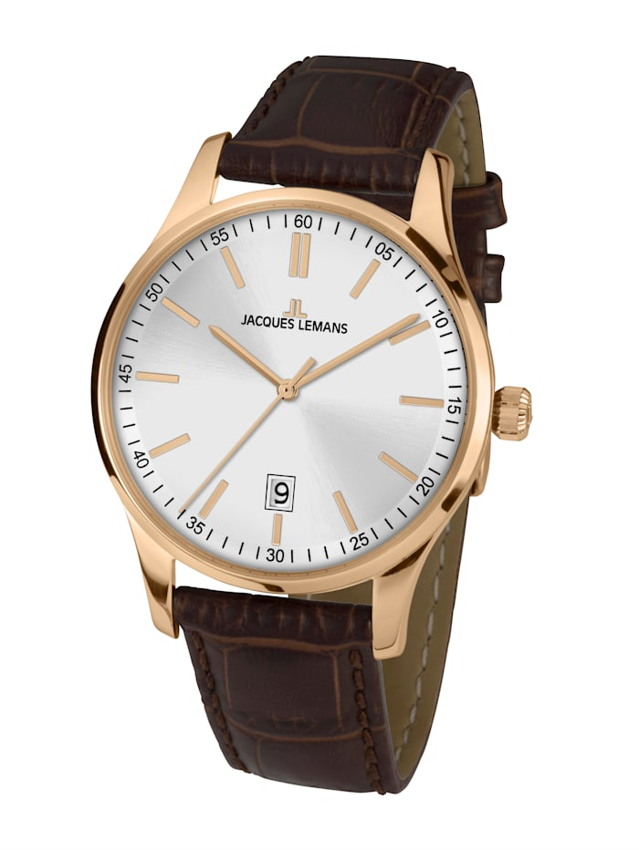 Jacques Lemans Herrenuhr Serie: London, Kollektion: Classic: 1- 2026E, Braun