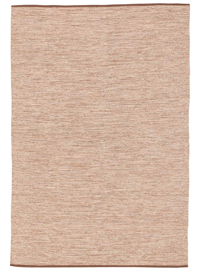 Pergamon Baumwolle Natur Kelim Teppich Easy Meliert, Beige