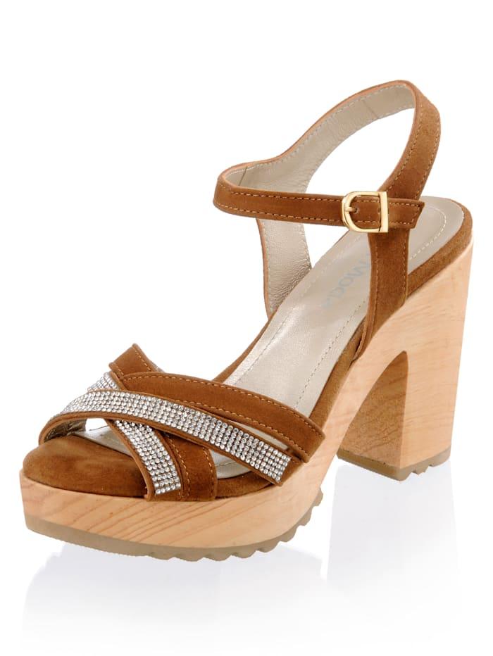 Sandalette mit Strassapplikationen