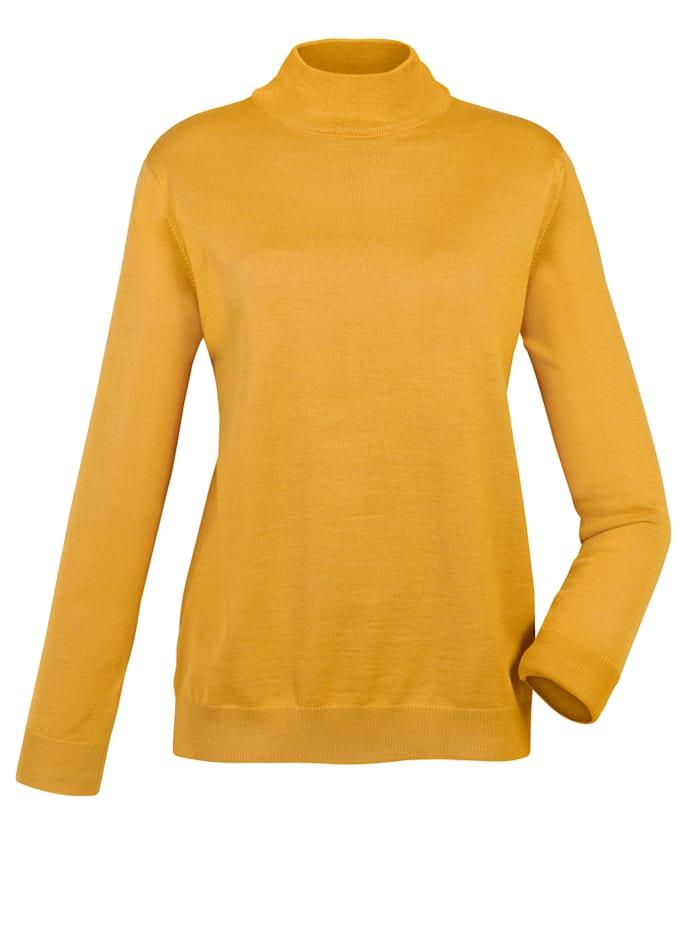 Stehbund-Pullover mit Merino-Schurwolle