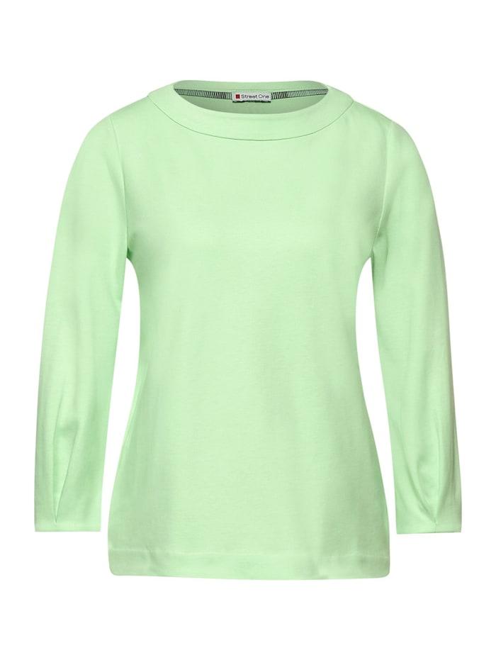 Street One Shirt mit Faltenärmel, frosted pistachio