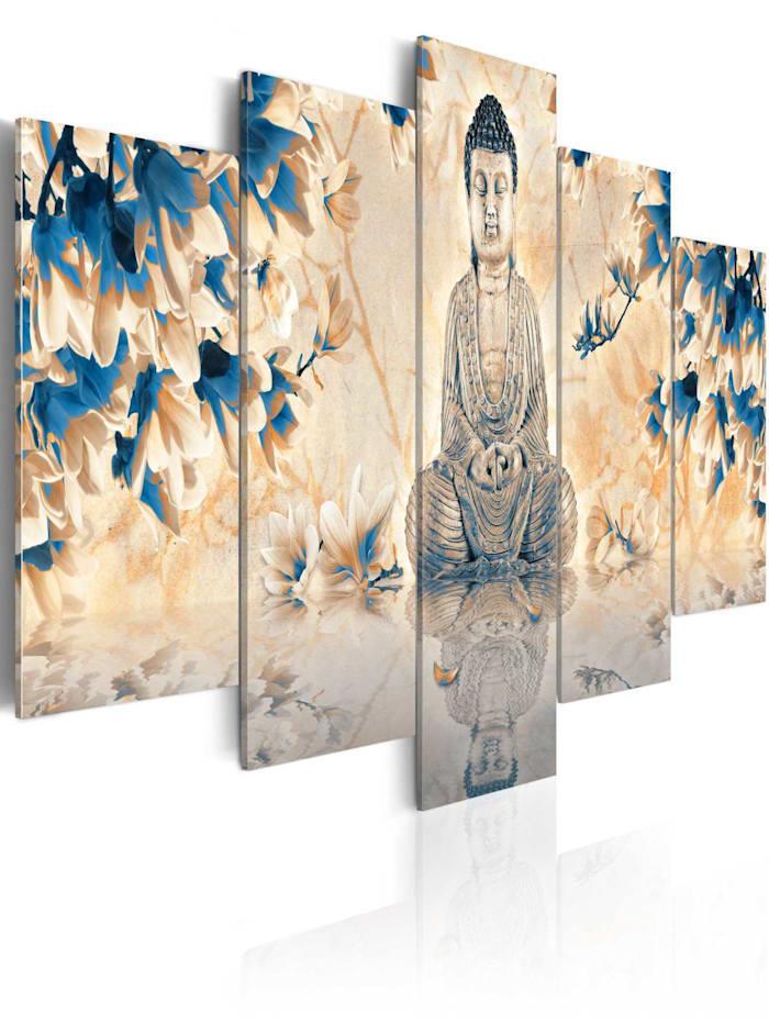 artgeist Wandbild Spiritueller Führer, Grau,Beige,Blau