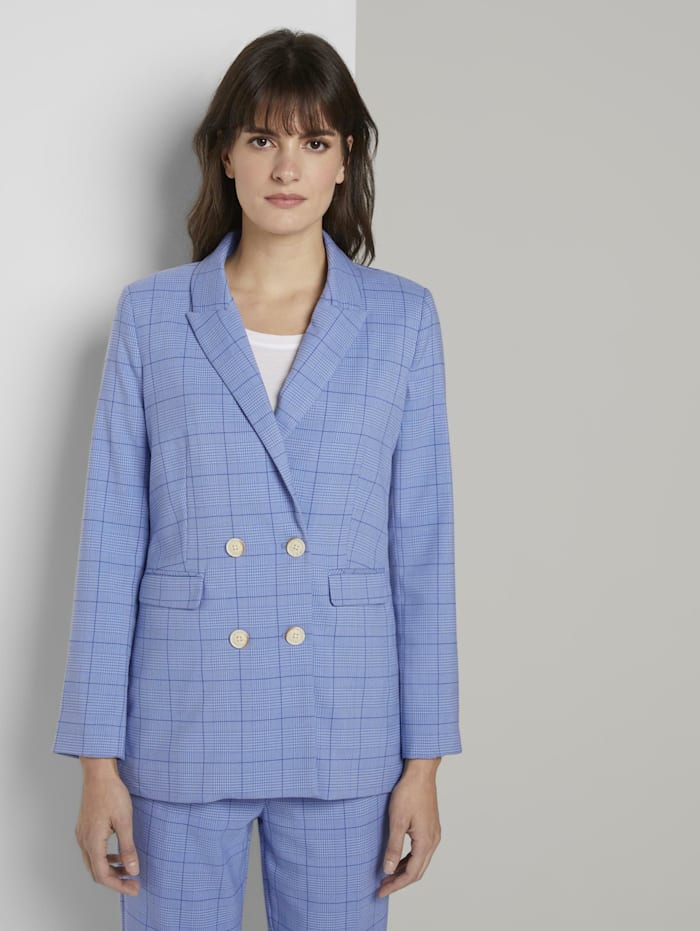 Tom Tailor mine to five Karo Blazer im Girlfriend-Fit, blue check design