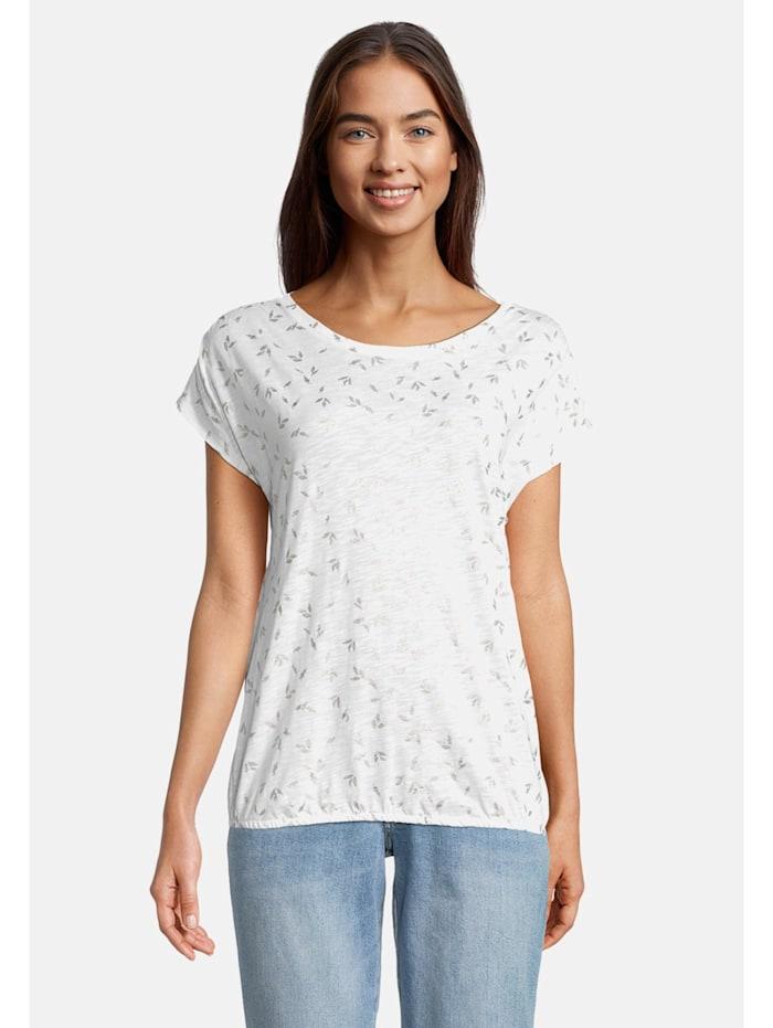 Betty & Co Casual-Shirt mit Rundhalsausschnitt, Weiß