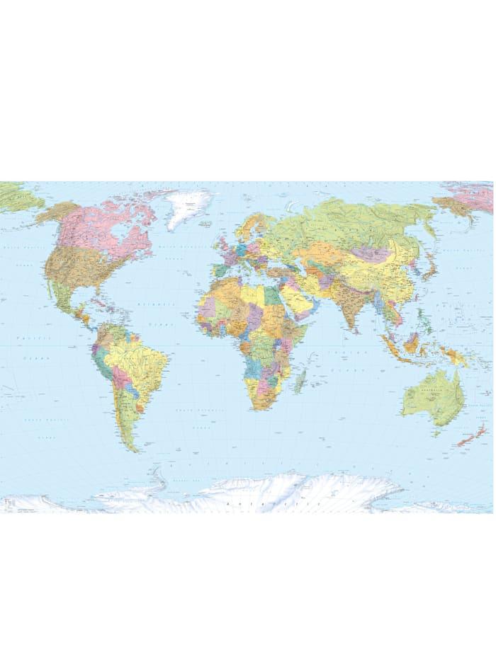 Komar Fototapete 'World Map', Mehrfarbig