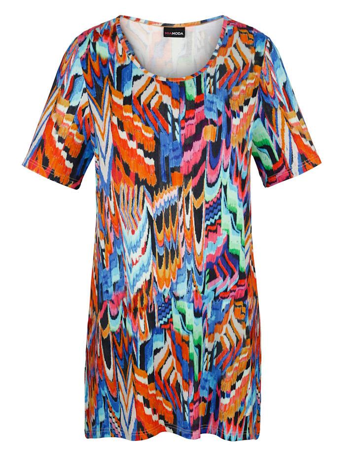 MIAMODA Topp med trykt mønster, Multicolor