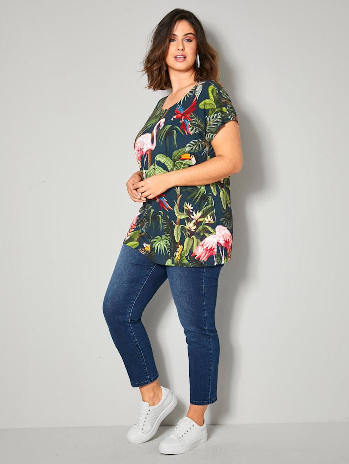 Shirt mit Tropical Printmuster