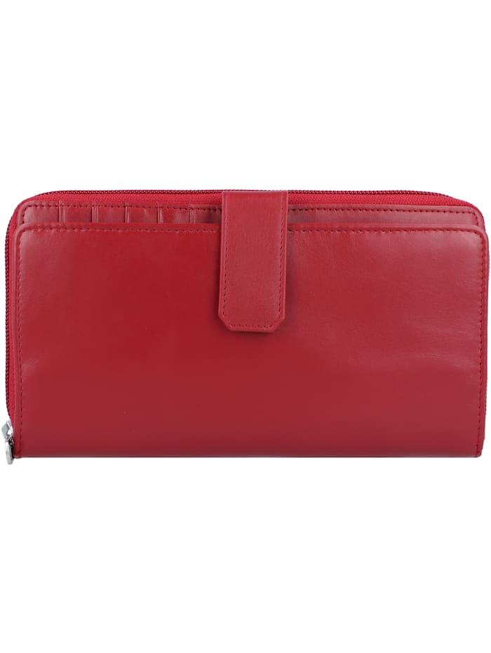 Esquire New Silk Geldbörse Leder 19 cm, rot