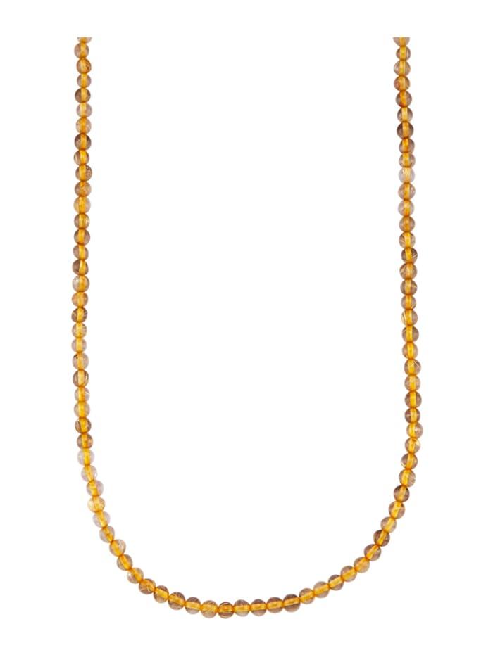 Halskette mit Rutilquarz, Braun