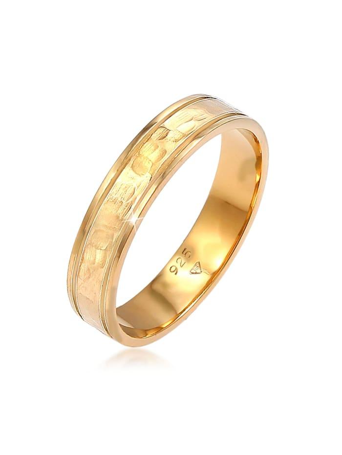 Elli Premium Ring Paarring Bandring Trauring Freundschaft 925 Silber, Gold