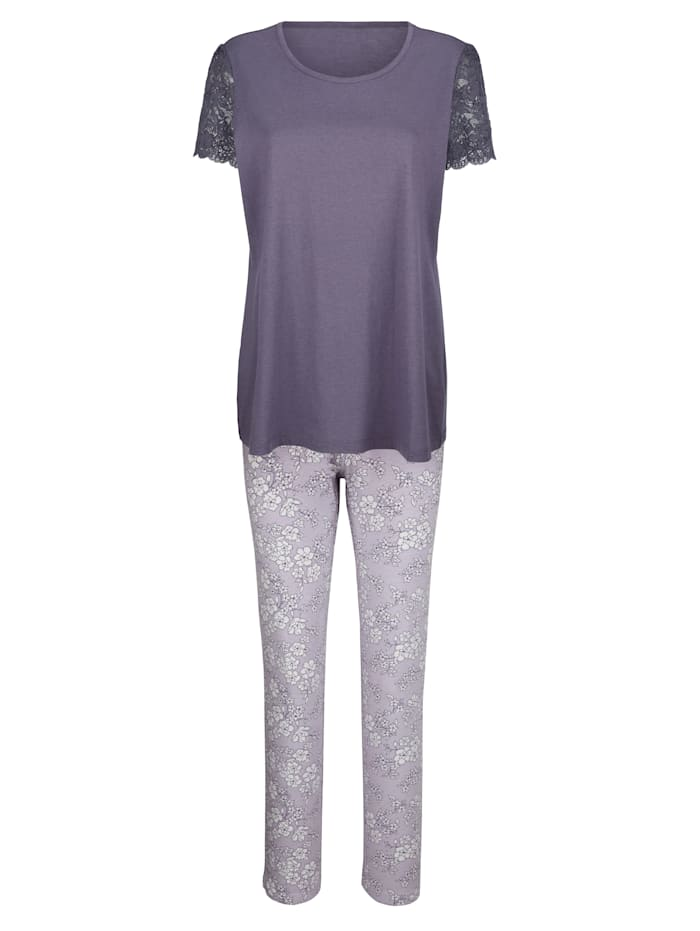 Blue Moon Schlafanzug aus Organic Cotton, flieder/mauve/ecru