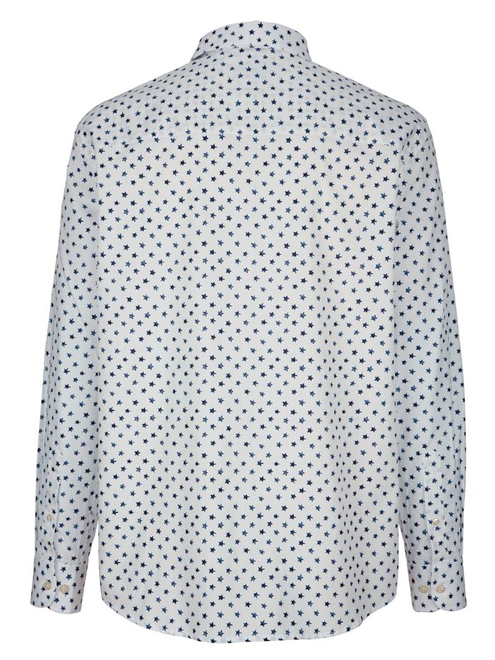 Skjorta med stjärnmönster