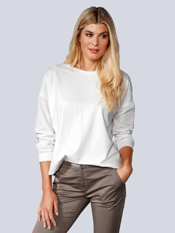 BRAX T-Shirt mit Rundhalsausschnitt, Creme-Weiß