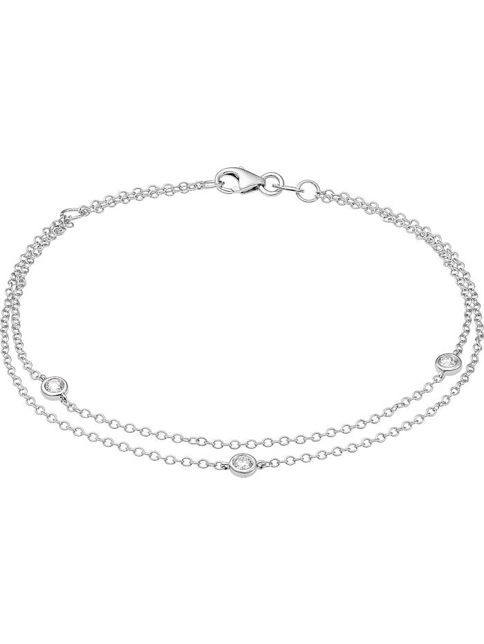 CHRIST C-Collection CHRIST Damen-Armband 585er Weißgold 3 Diamant, weißgold