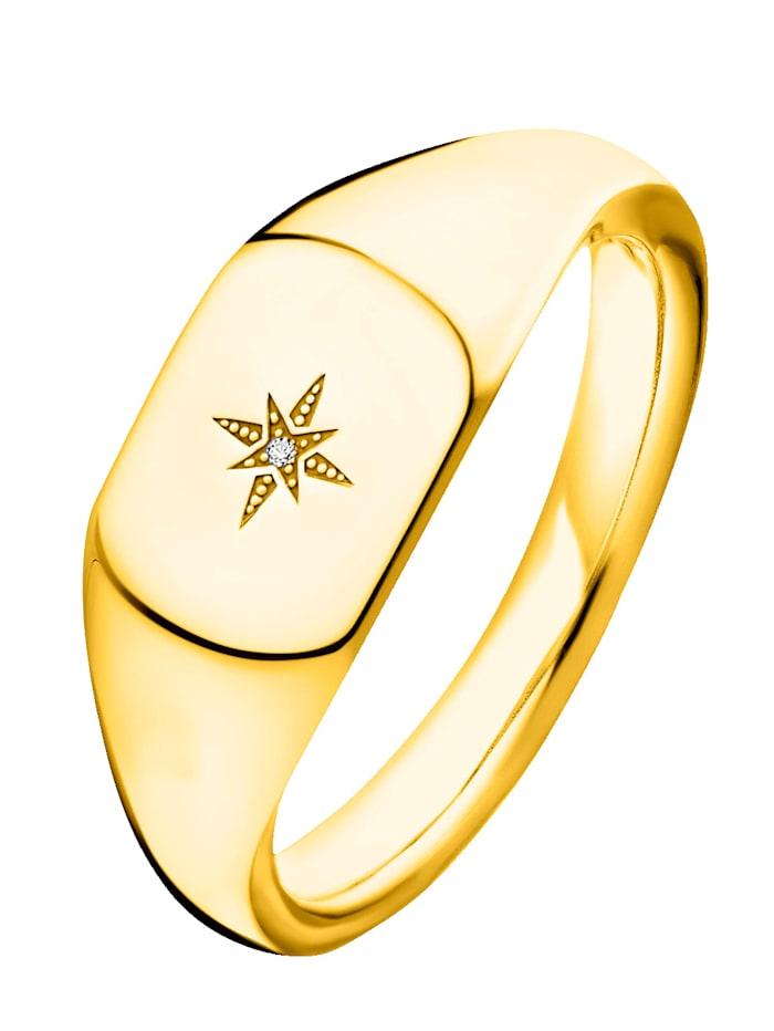 Thomas Sabo Damenring mit Diamant Thomas Sabo D_TR0038-924-14, Gelbgoldfarben