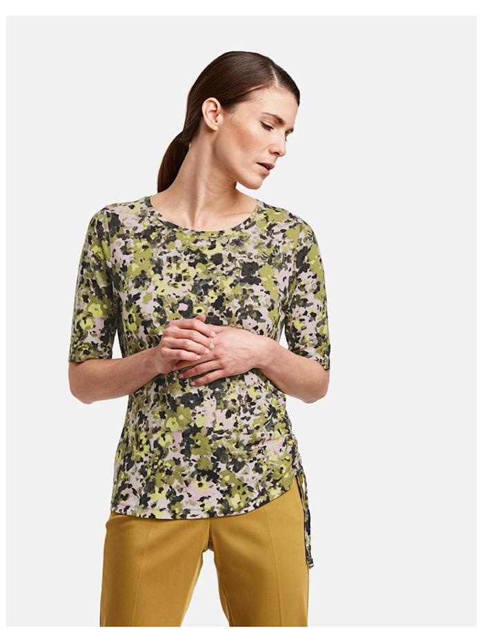 Shirt mit seitlicher Raffung
