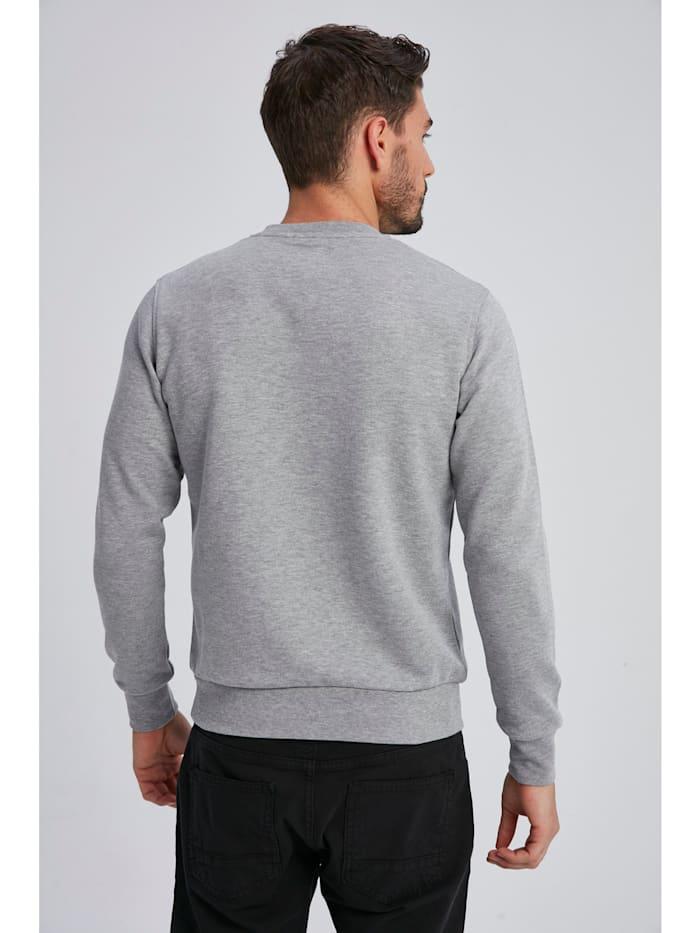 Sweatshirt Change mit unifarbenem Stoff