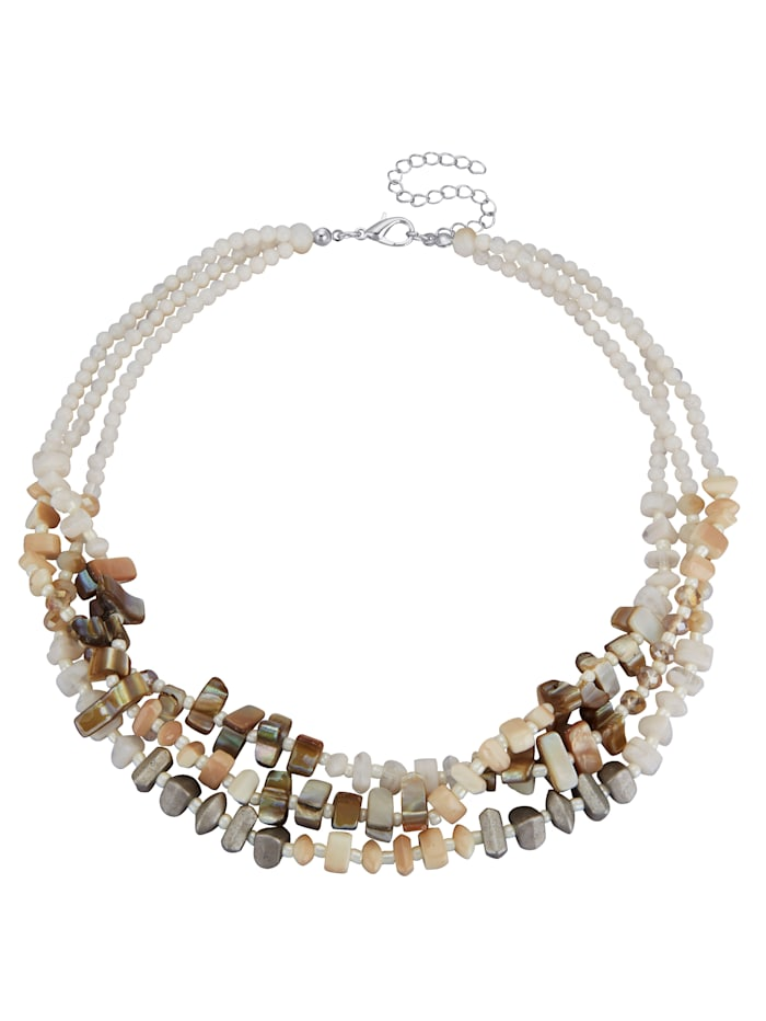 Necklace with faux shells