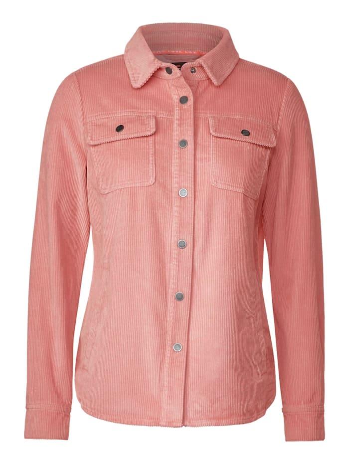 Cecil Overshirt in Cord-Optik, bright rose