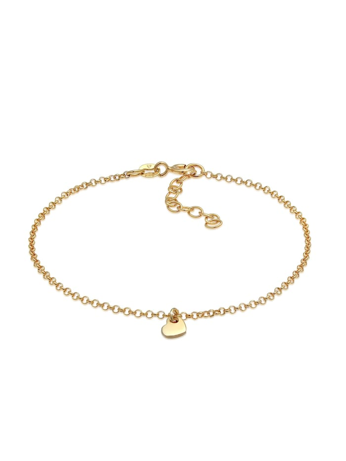 Elli Armband Herz Liebe Romantik Erbskette 925 Silber, Gold