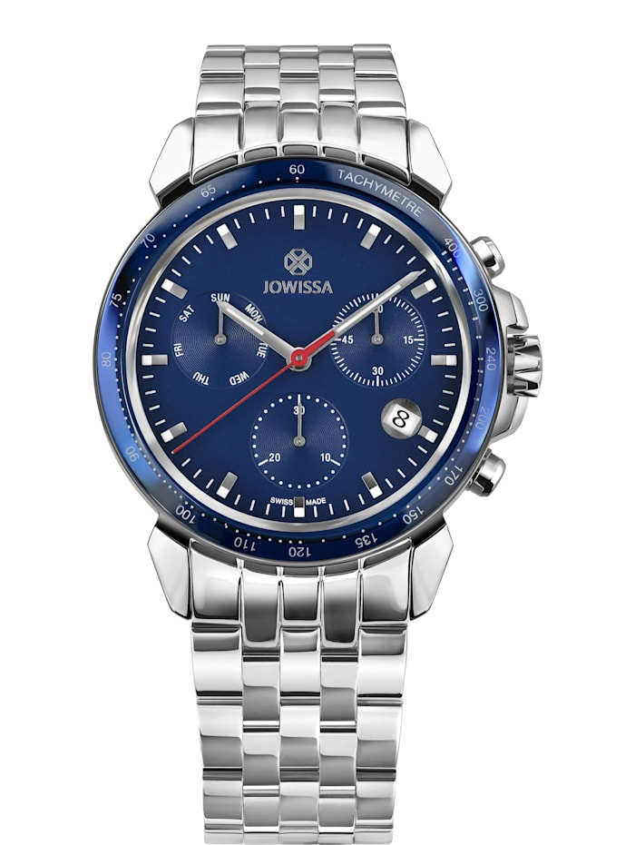 Jowissa Quarzuhr LeWy 9 Swiss Men's Watch, silber/blau