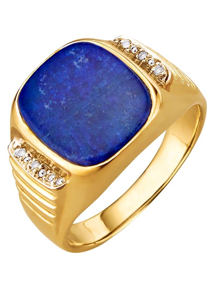 Klackringmed lapis lazuli, Blå