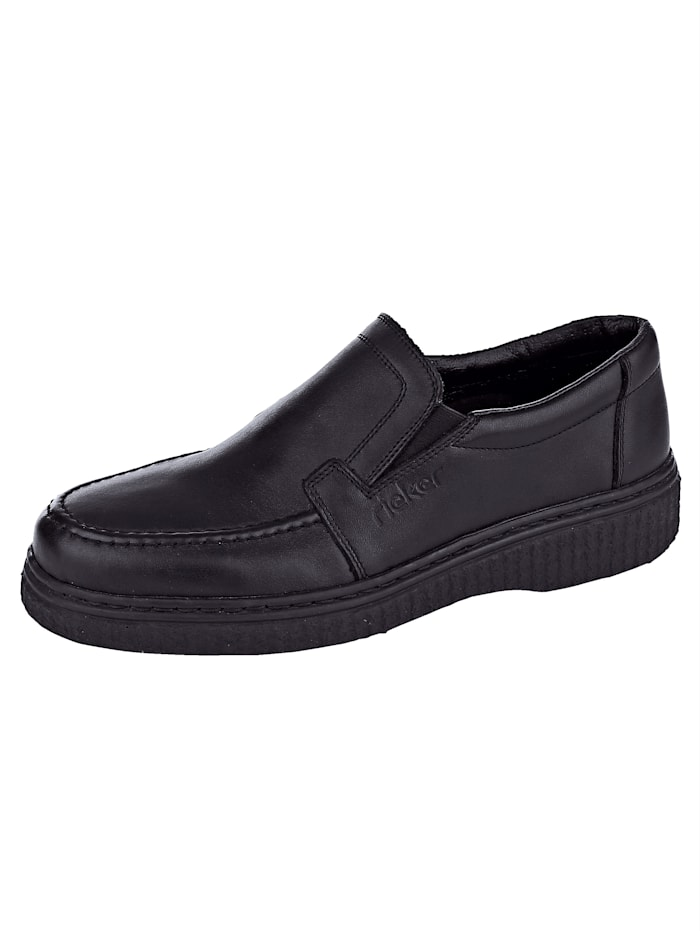 Rieker Slipper in elegantem Look, Schwarz