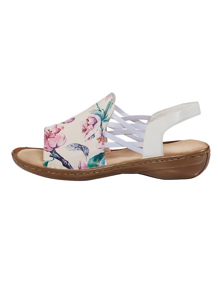 Sandalette mit gekreuzten Gummibändern
