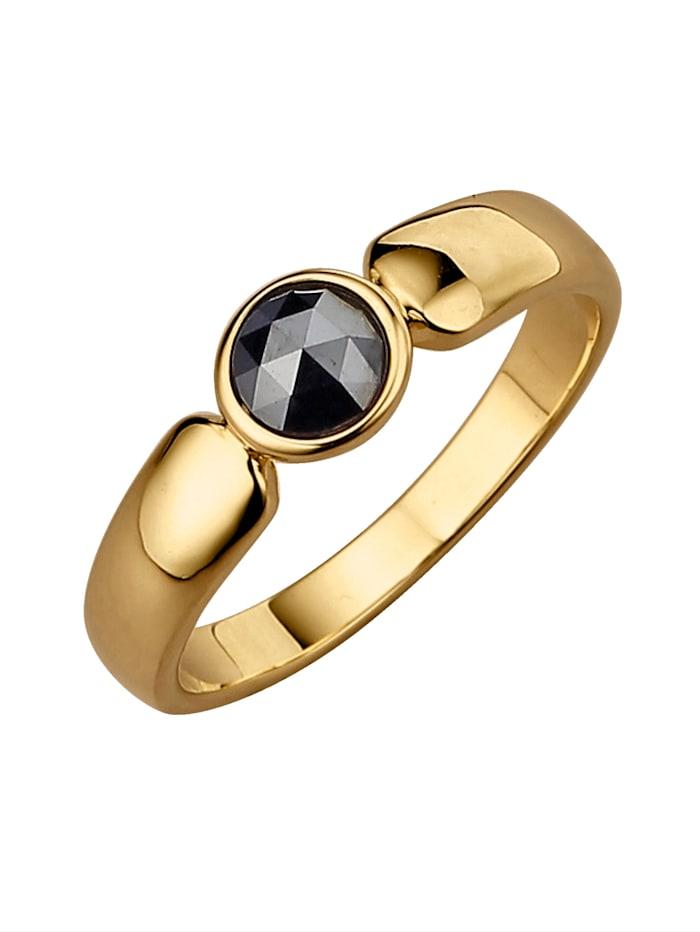 Diemer Diamant Damenring mit Diamant, Schwarz