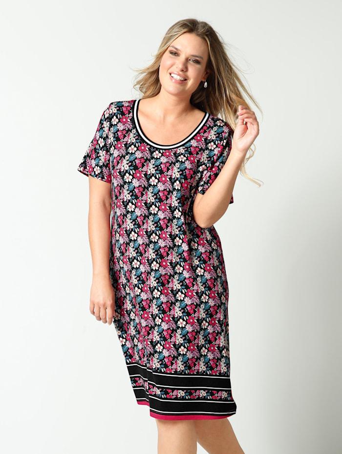 Jersey jurk in licht uitlopend model