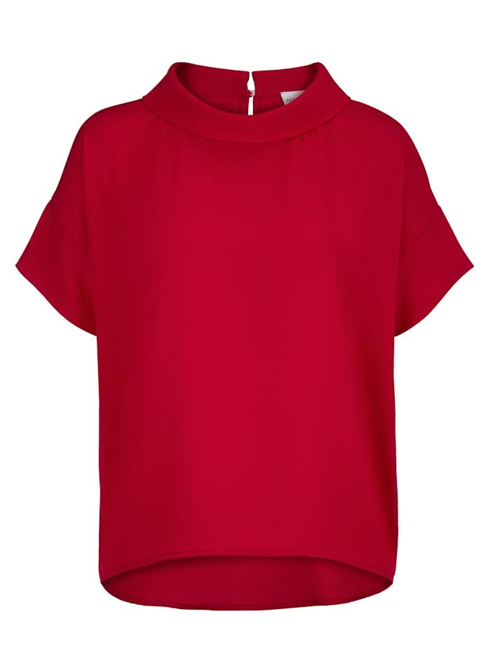 AMY VERMONT Bluse mit modischem Blendenkragen, Rot