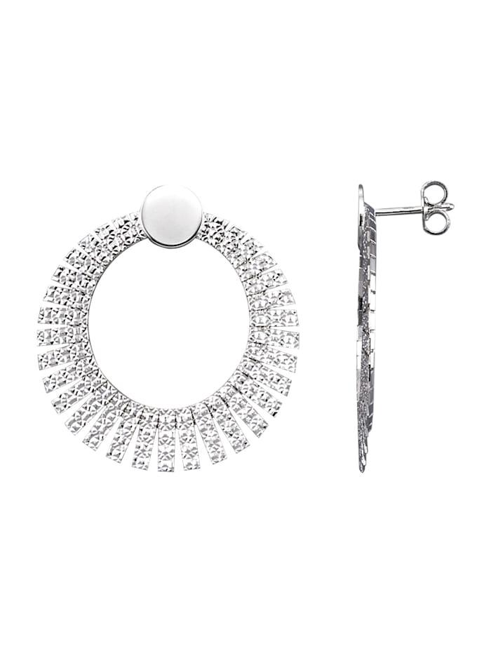 AMY VERMONT Ohrringe diamantiert, Silberfarben