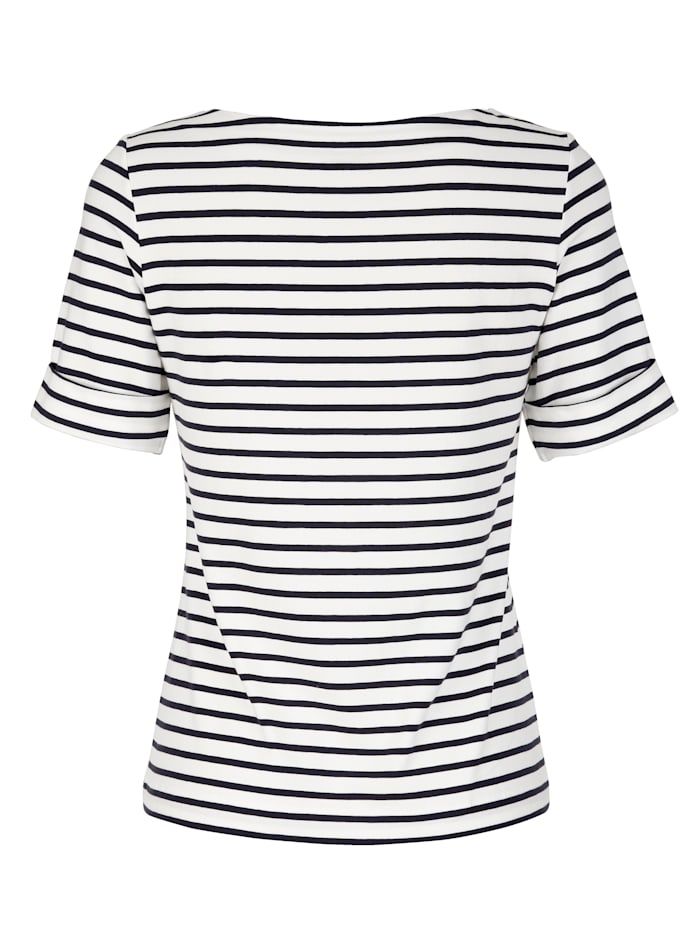 Shirt in sportivem Ringeldessin