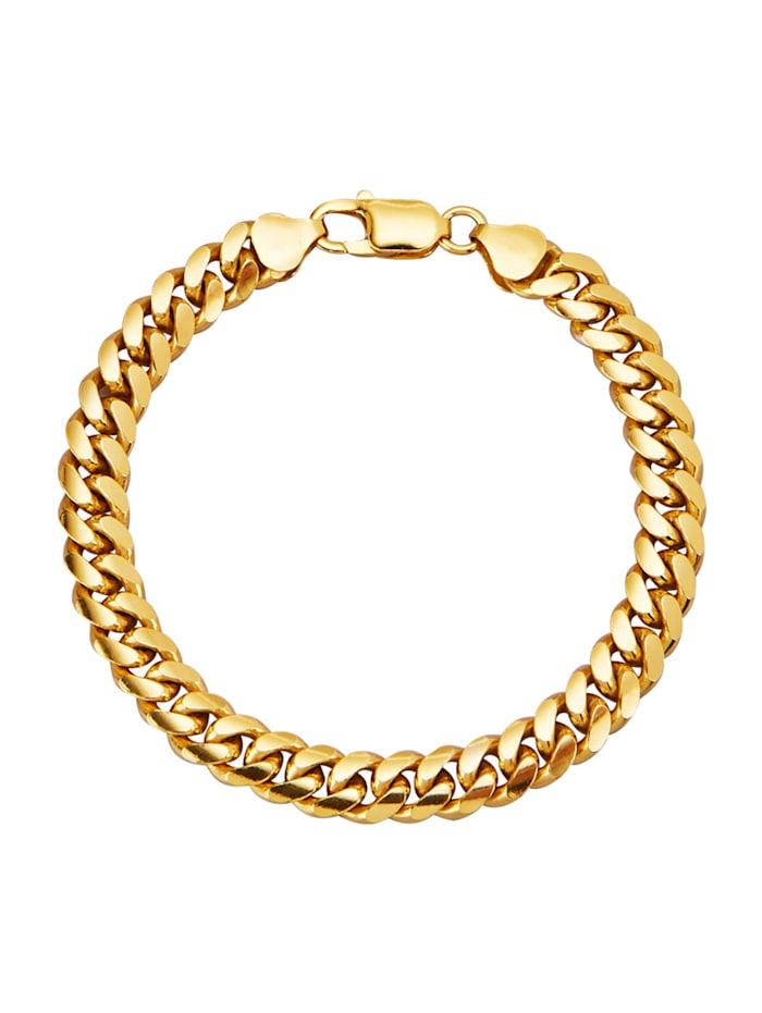 Diemer Gold Gourmettearmband van echt zilver, Geelgoudkleur
