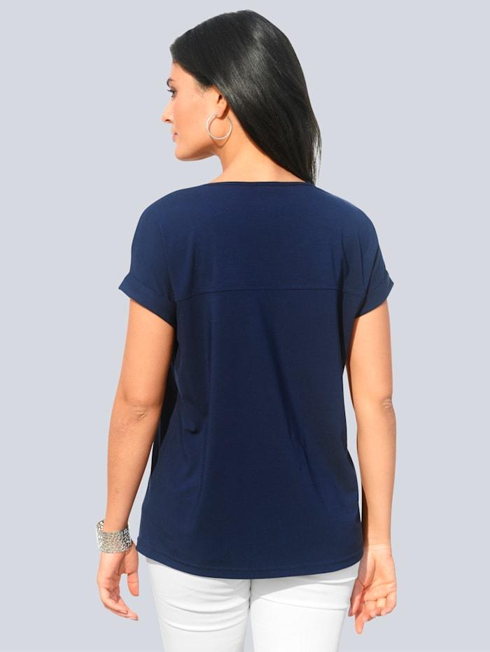 Shirt met deelnaden