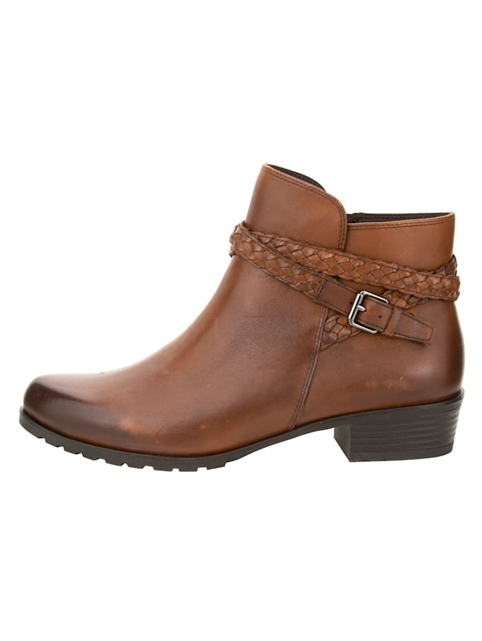 Ankle boots made from supple Nappa leather
