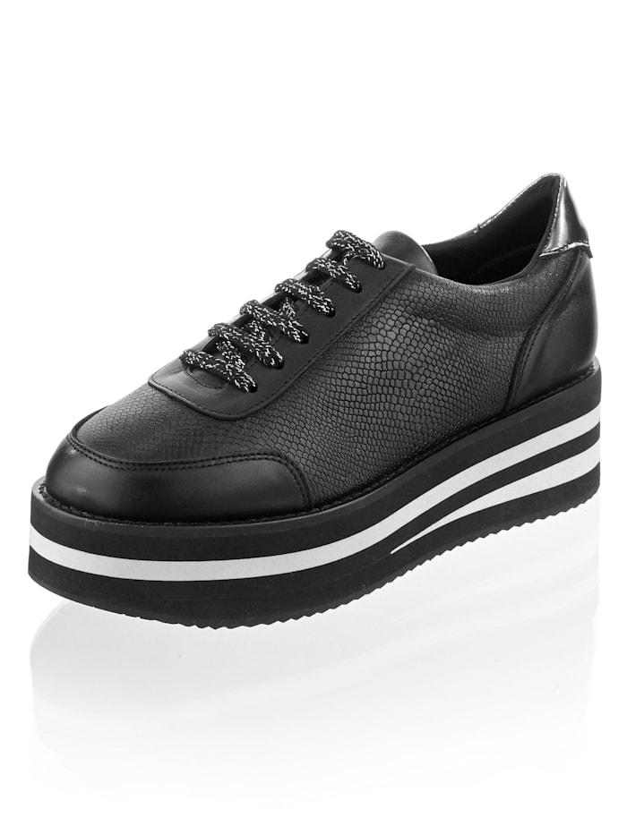 Alba Moda Sneaker mit trendiger Plateausohle, Schwarz