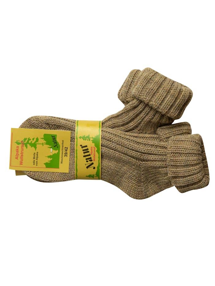 RS Harmony Alpaka Wollstrumpf mit Umschlag, Natur