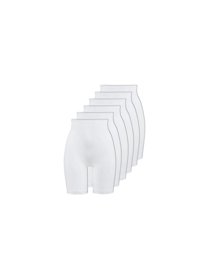 Naturana 6er Sparpack Damen Langbeinschlüpfer 6er Pack, Weiss