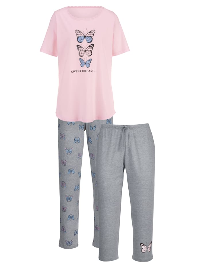 Pyjama met kanten details Set