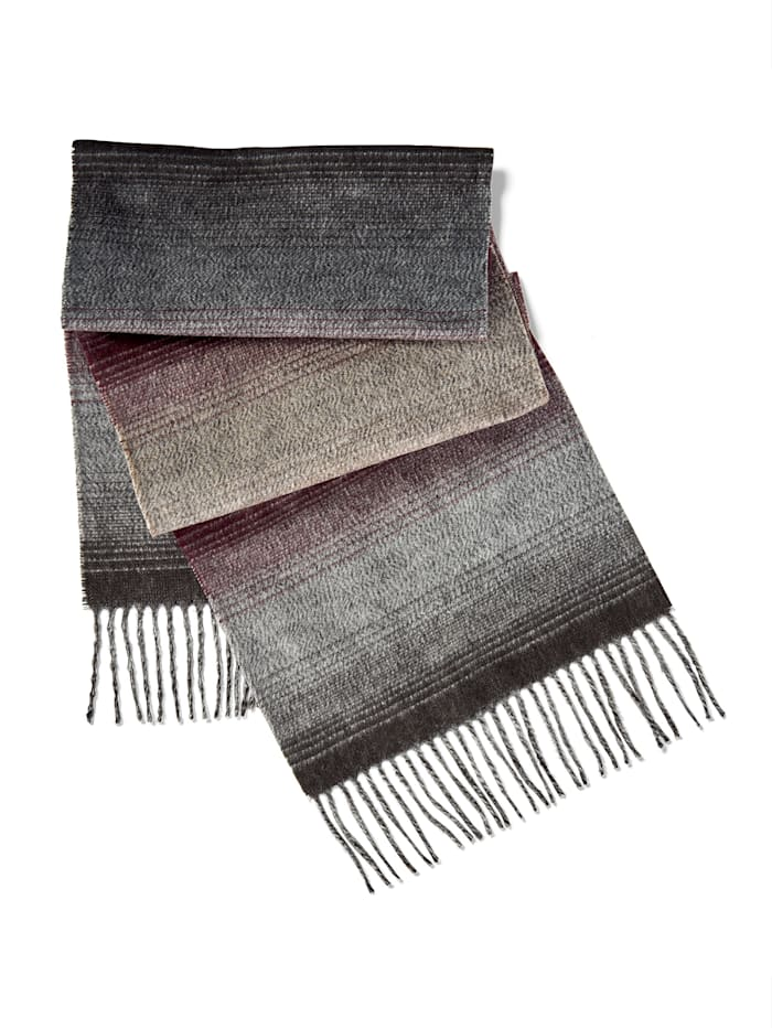 BABISTA Sjaal met zachte touch, grijs/bordeaux