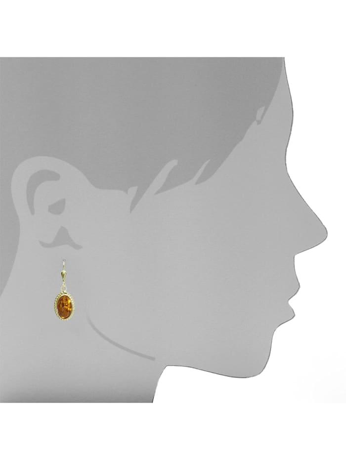 Ohrhänger - Julie - Gold 585/000 - Bernstein