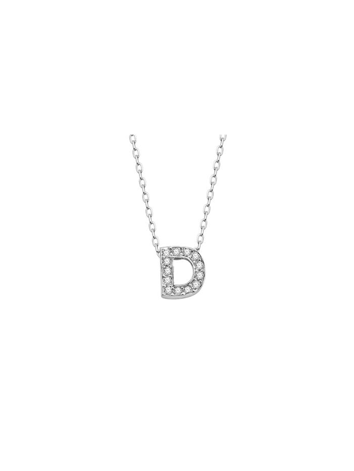 Dkeniz Silberkette BUCHSTABENKETTE STANDART D SILBER, silber