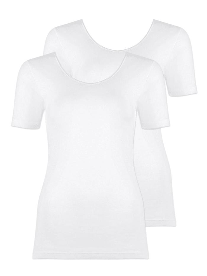 Naturana 2er Sparpack Damen Unterhemd, Weiss
