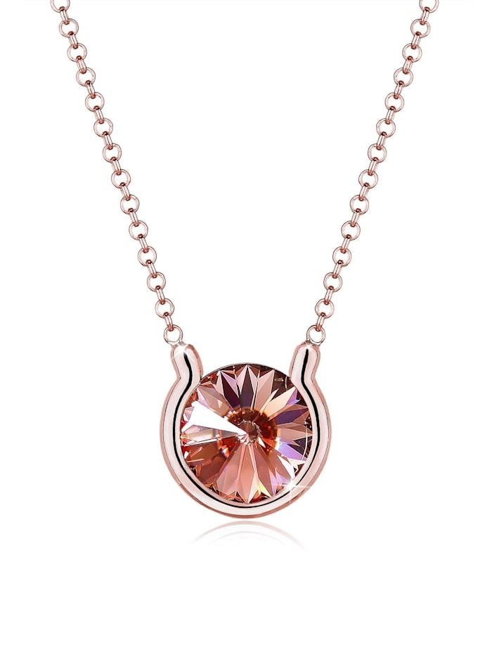 Elli Halskette Kristalle Rosé 925 Sterling Silber, Rosegold